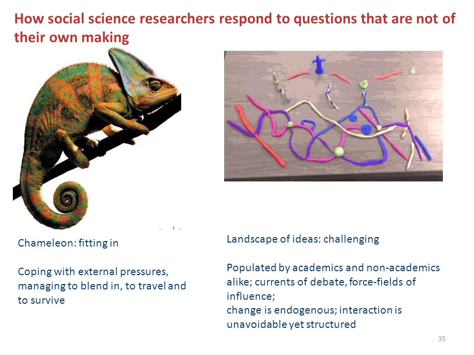 How social science researchers respond to questions that are not of their own making