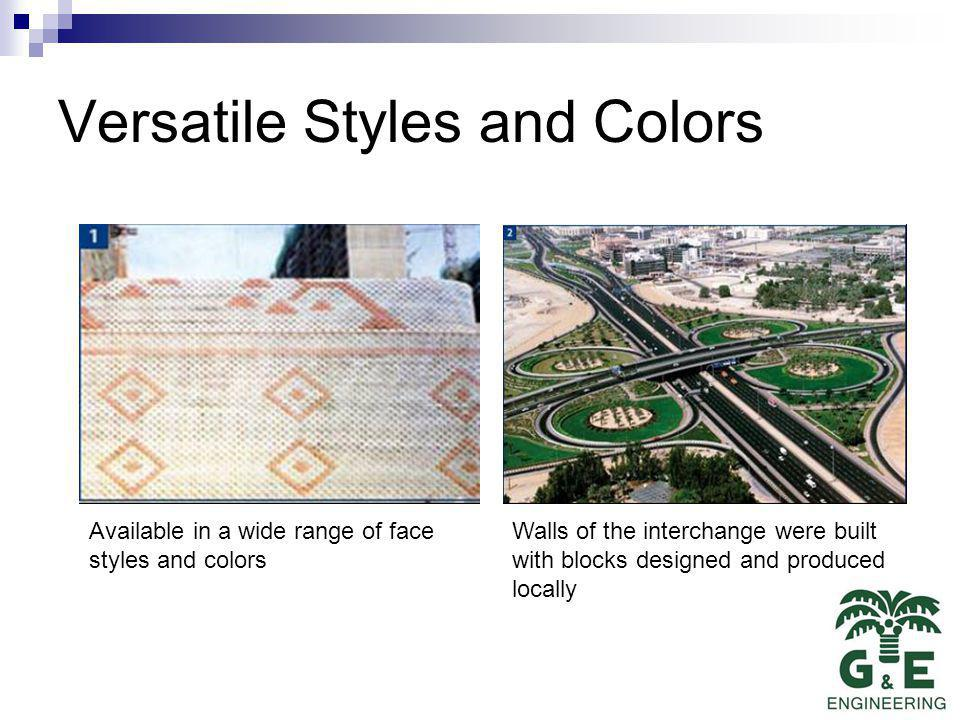 Versatile Styles and Colors