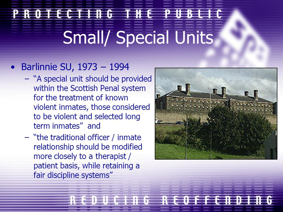 Small/ Special Units Barlinnie SU, 1973 – 1994