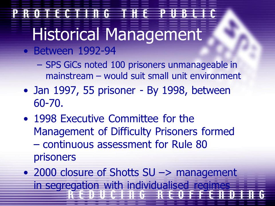 Historical Management