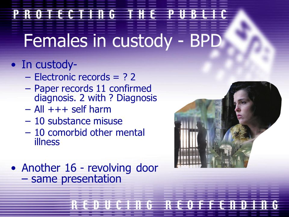 Females in custody - BPD