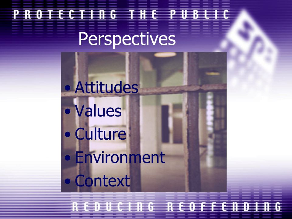 Perspectives Attitudes Values Culture Environment Context