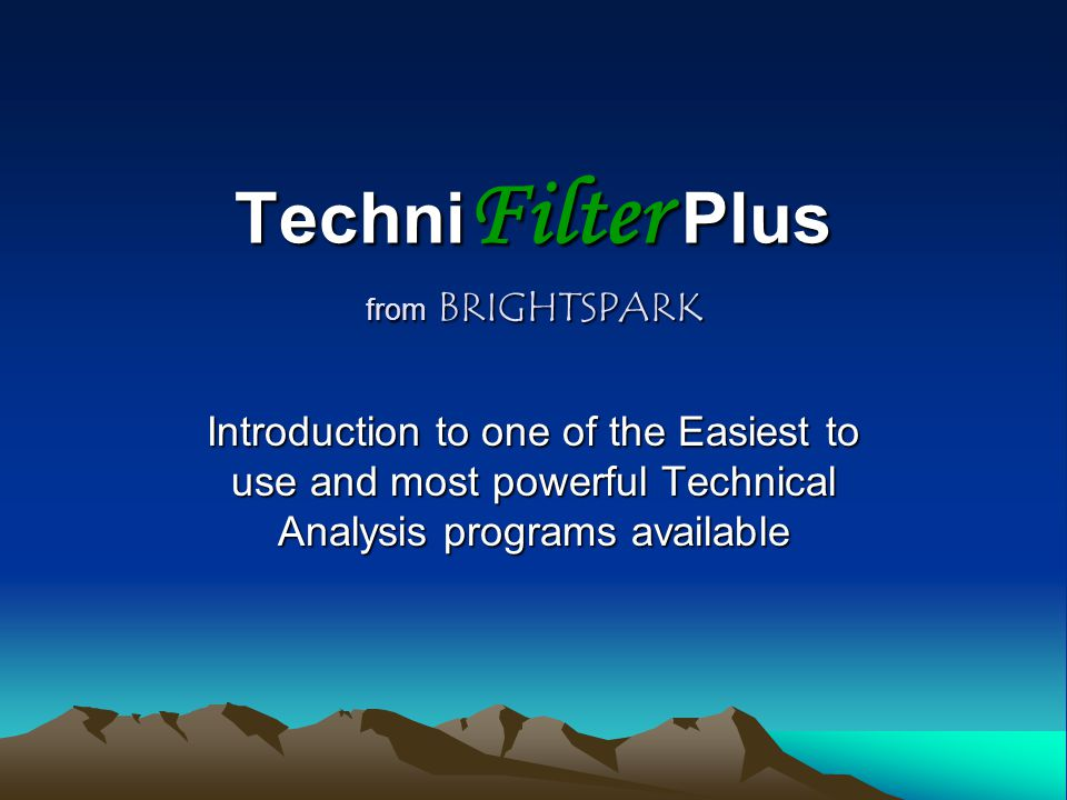 TechniFilter Plus from BRIGHTSPARK