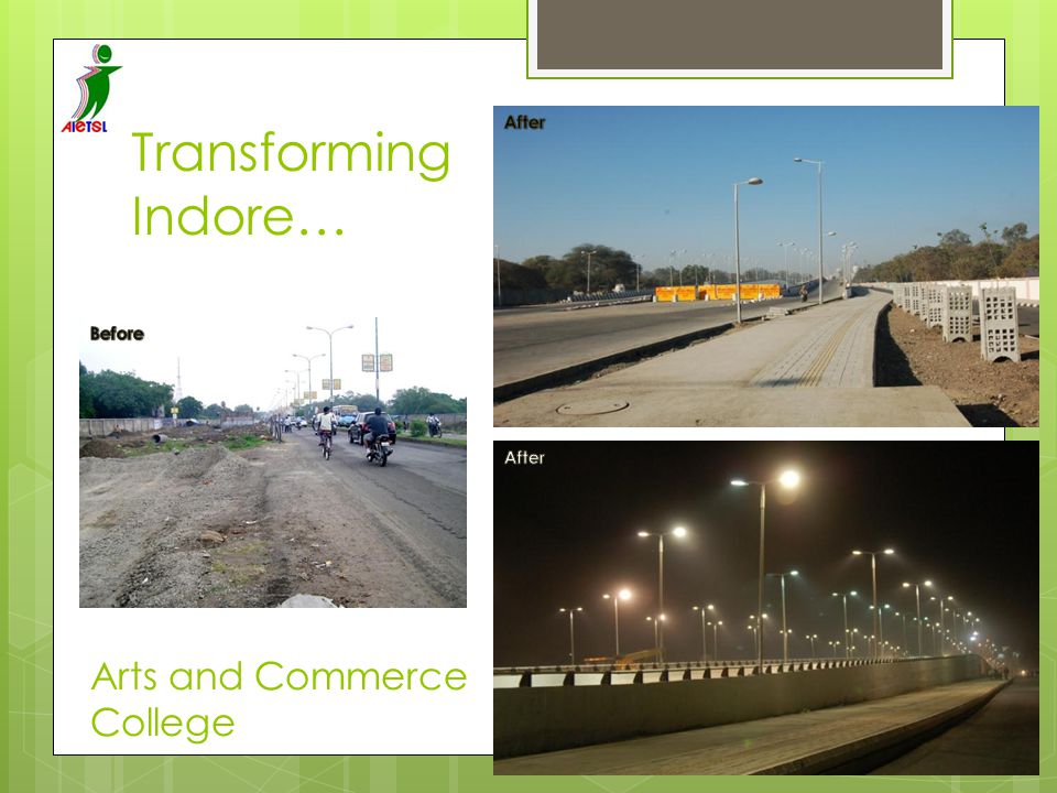 After Transforming Indore… Before After Arts and Commerce College
