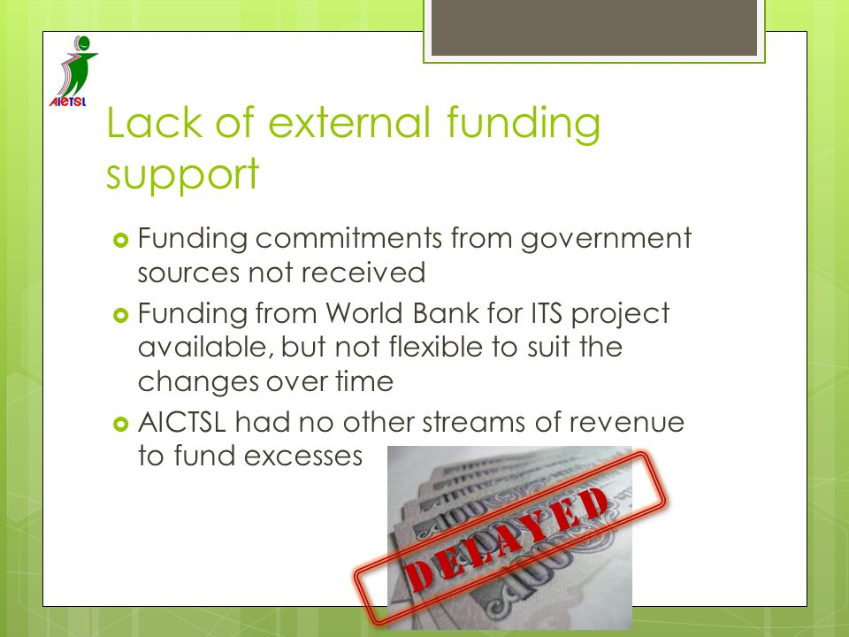 Lack of external funding support