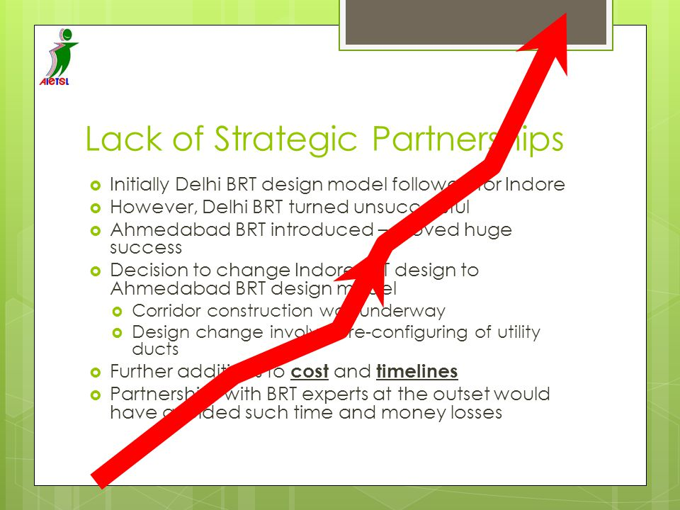 Lack of Strategic Partnerships