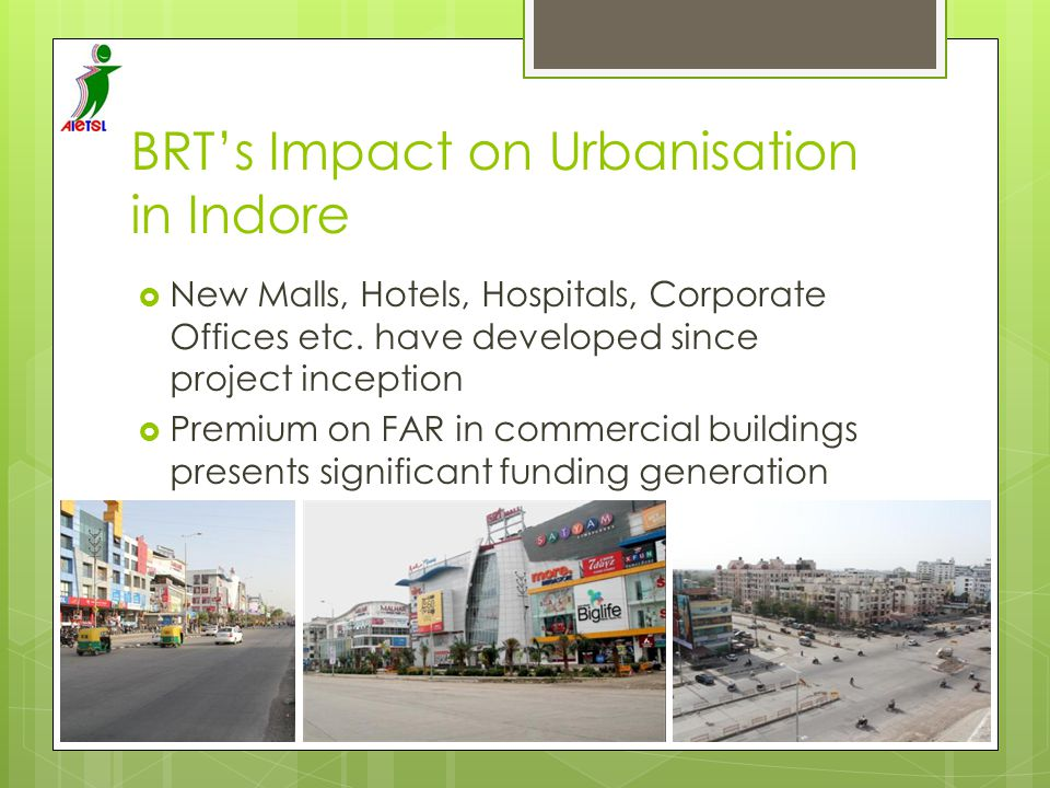 BRT's Impact on Urbanisation in Indore