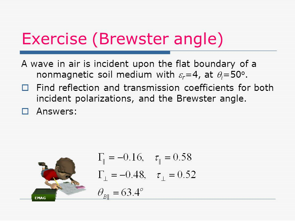 Exercise (Brewster angle)