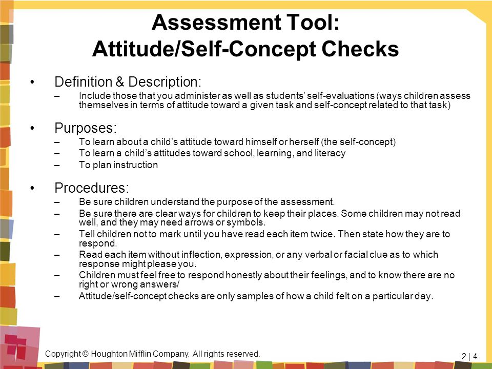 Assessment Tool: Attitude/Self-Concept Checks