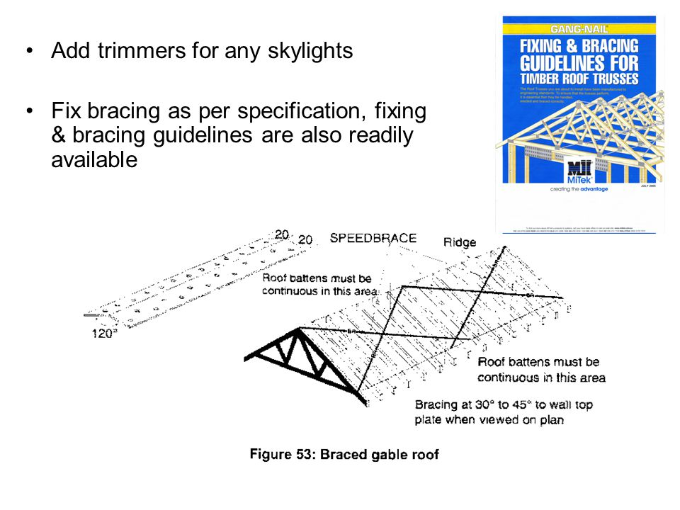 Add trimmers for any skylights