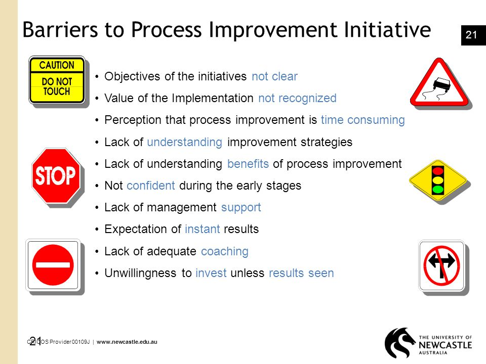 Barriers to Process Improvement Initiative