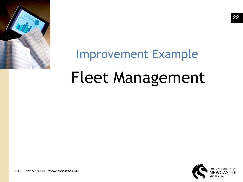 Improvement Example Fleet Management