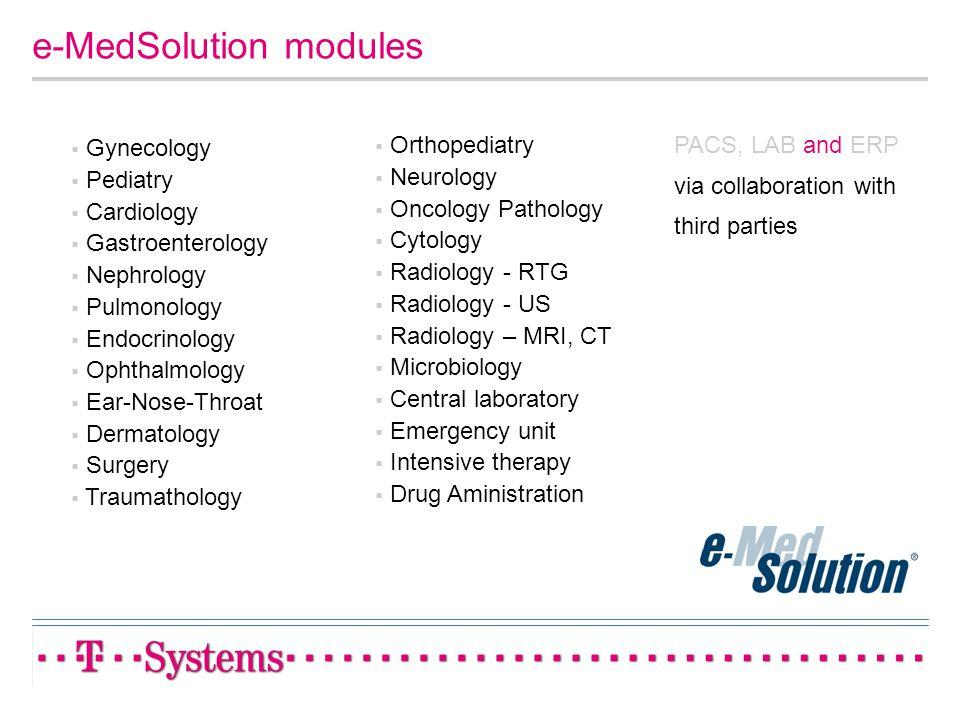 e-MedSolution modules