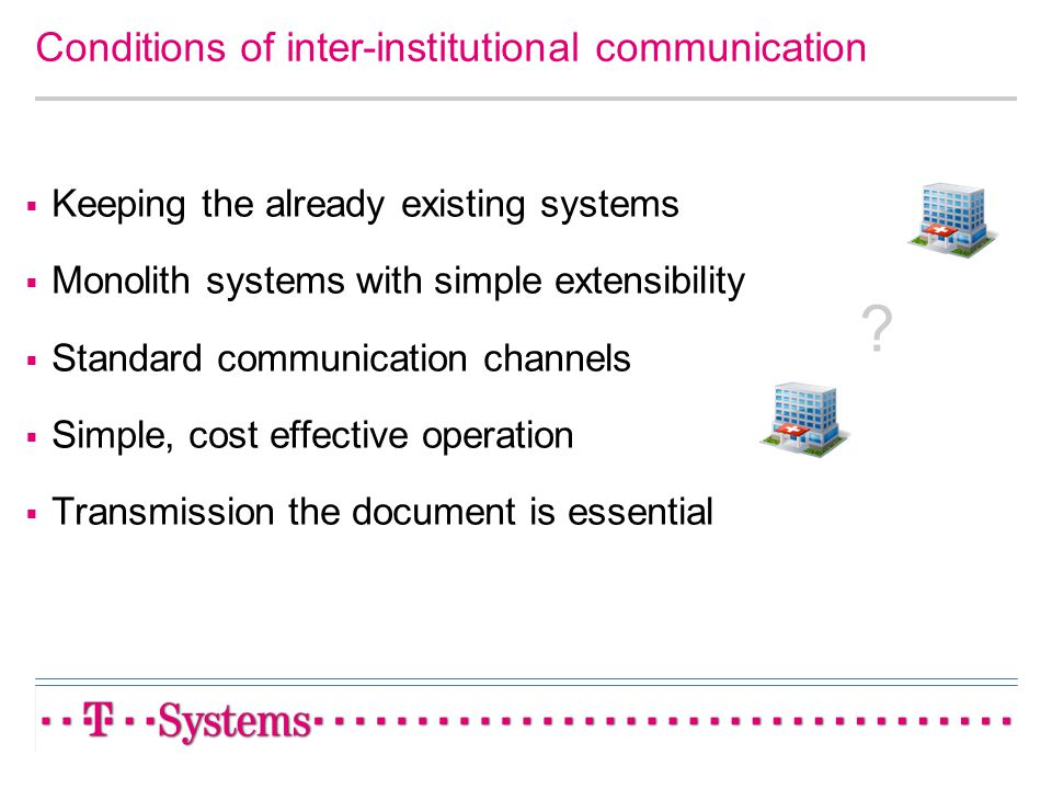 Conditions of inter-institutional communication
