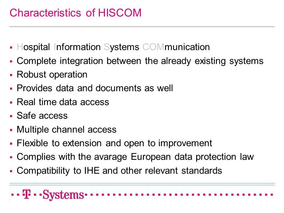 Characteristics of HISCOM
