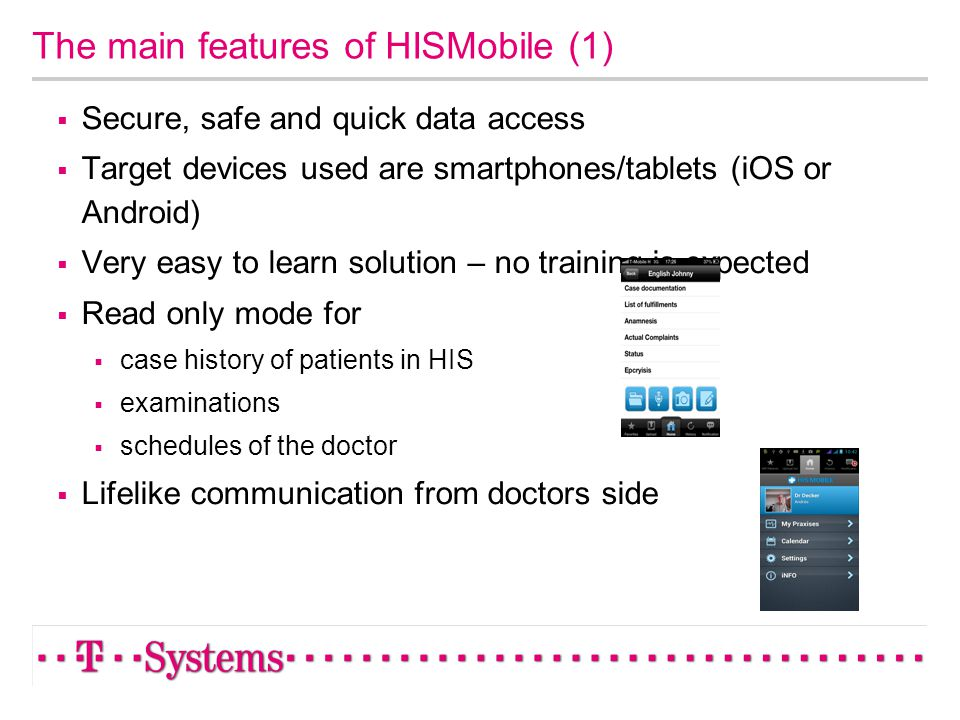 The main features of HISMobile (1)
