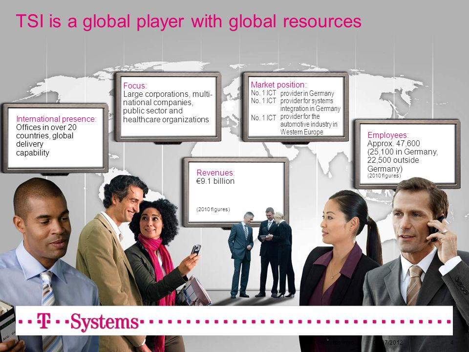 TSI is a global player with global resources