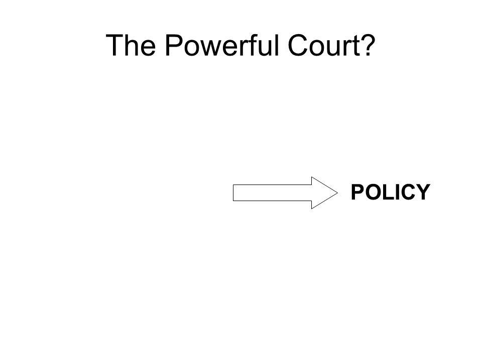 The Powerful Court POLICY