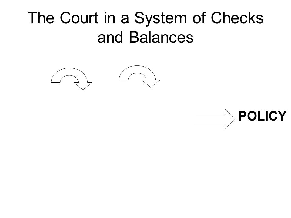 The Court in a System of Checks and Balances