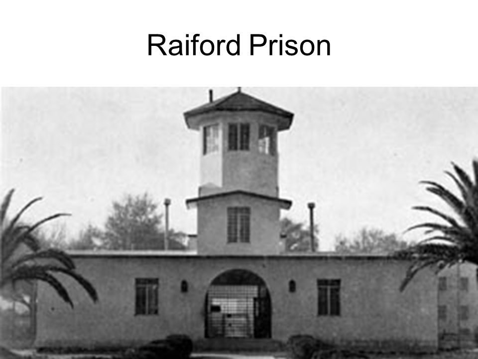 Raiford Prison Gideon served his time at Raiford Prison in Union County, Florida.