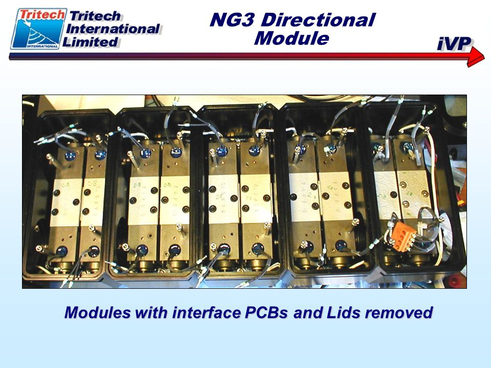 NG3 Directional Module Modules with interface PCBs and Lids removed