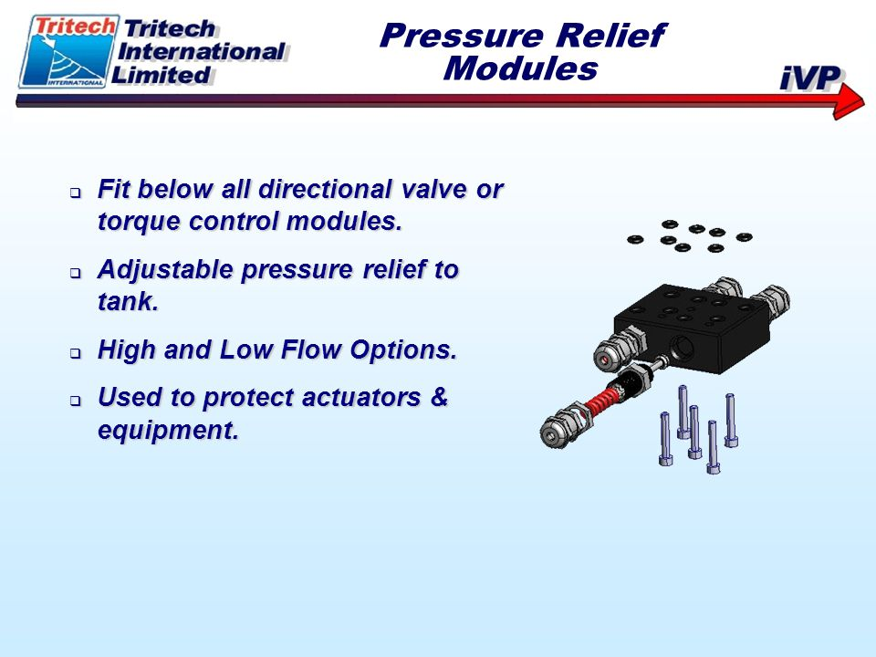 Pressure Relief Modules