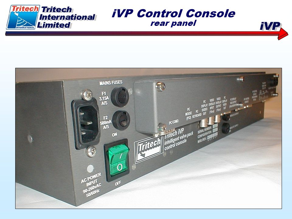 iVP Control Console rear panel