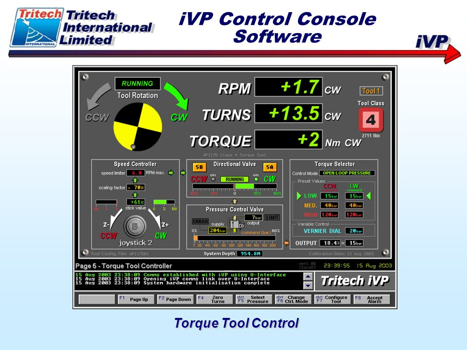 iVP Control Console Software