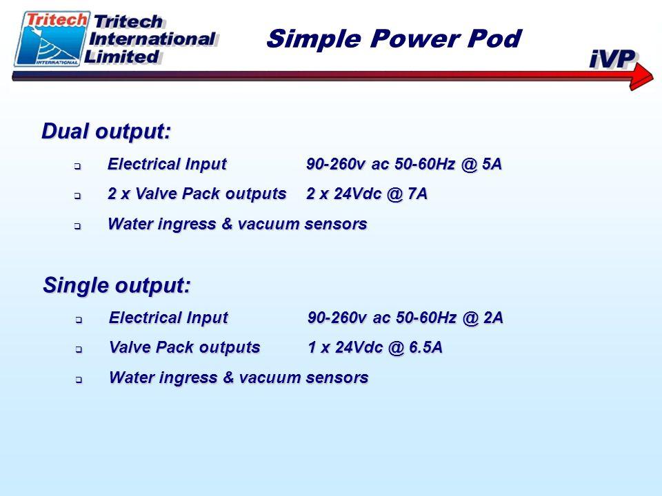 Simple Power Pod Dual output: Single output: