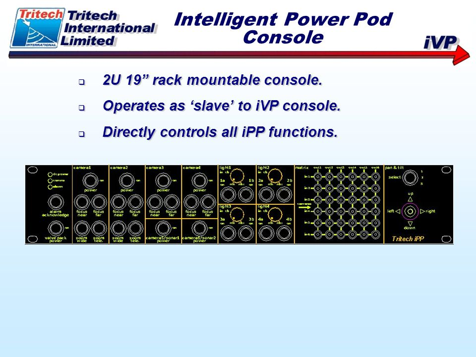 Intelligent Power Pod Console