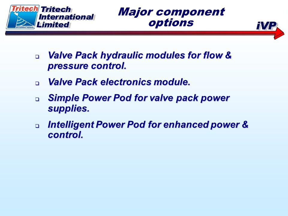 Major component options