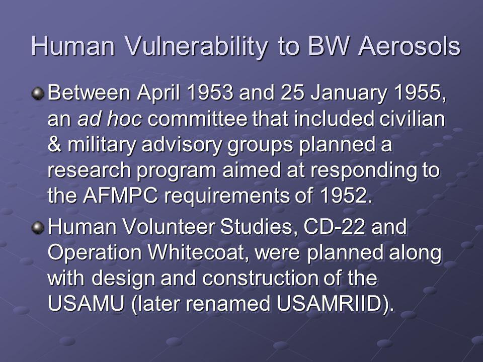 Human Vulnerability to BW Aerosols