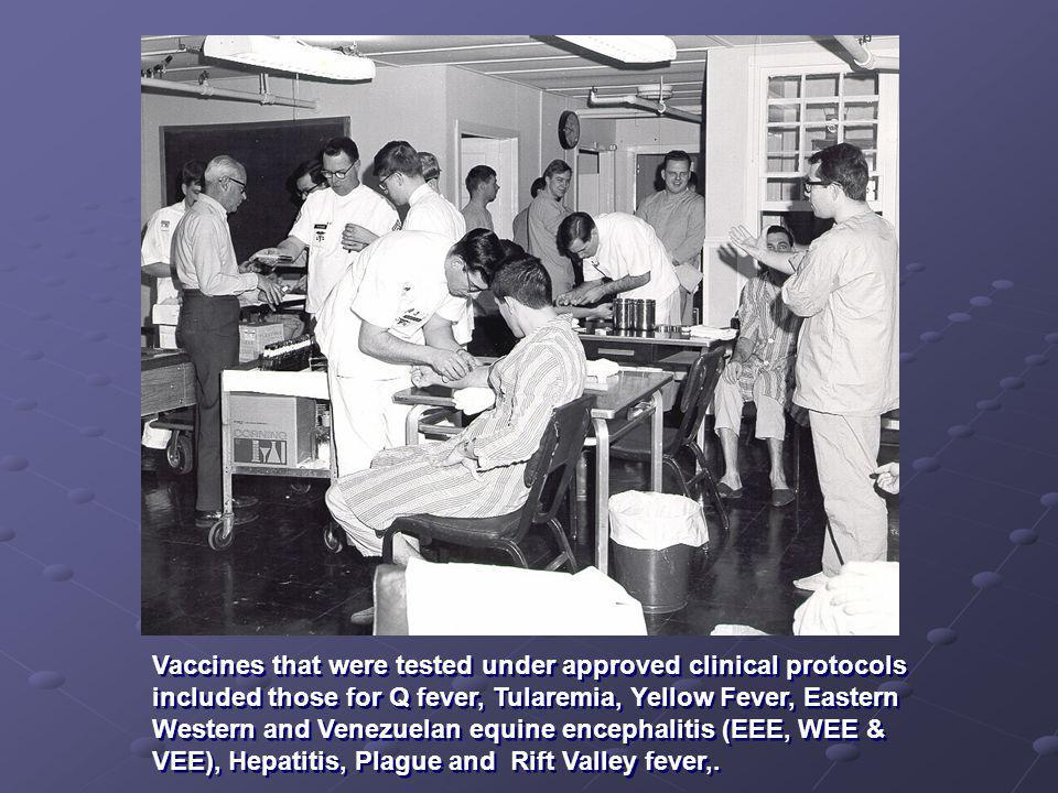 Several vaccines were developed as a result of Operation Whitecoat