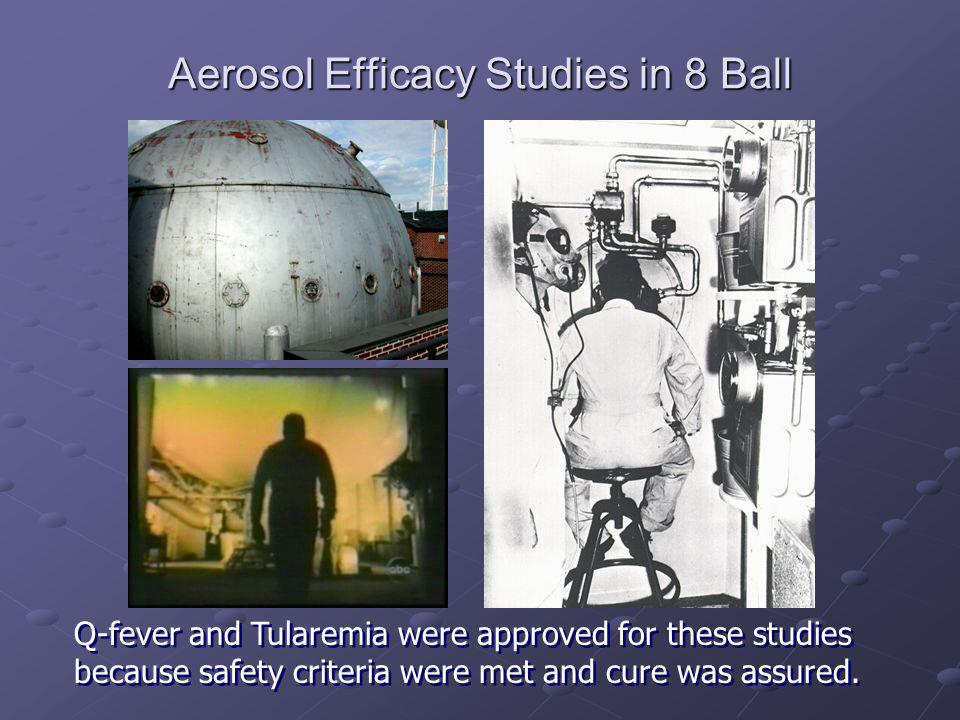 Aerosol Efficacy Studies in 8 Ball