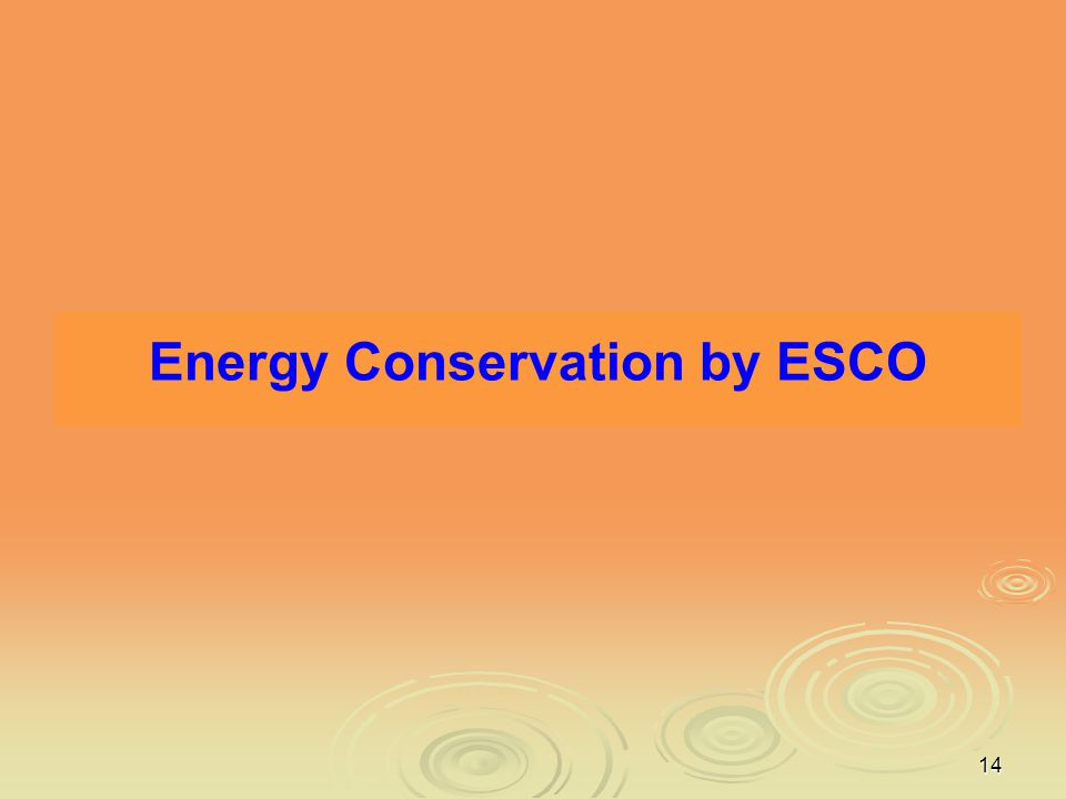 Energy Conservation by ESCO