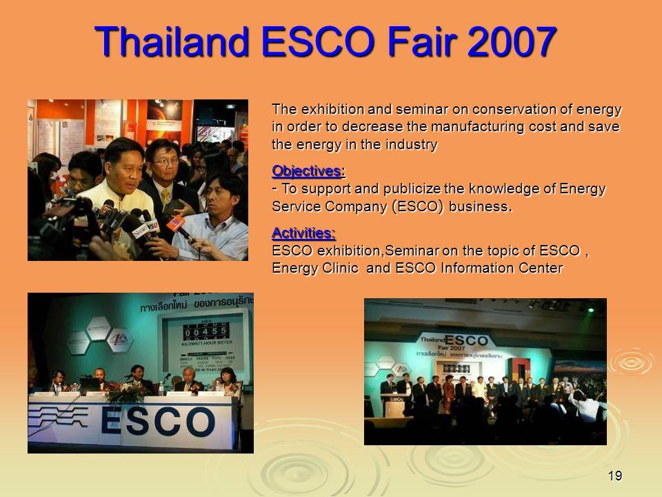 Thailand ESCO Fair 2007