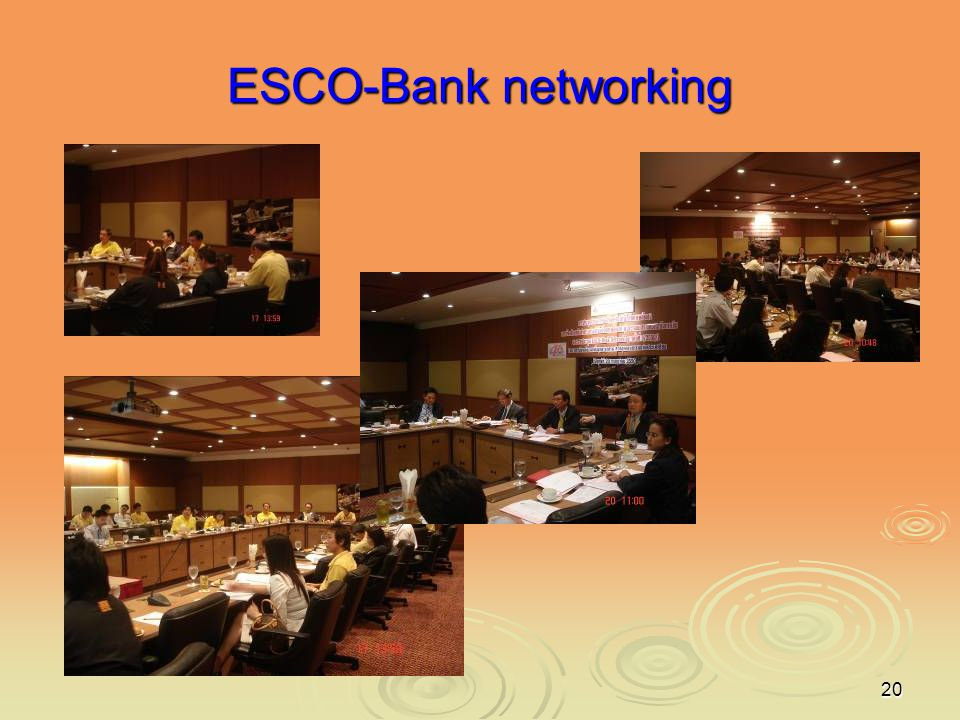 ESCO-Bank networking