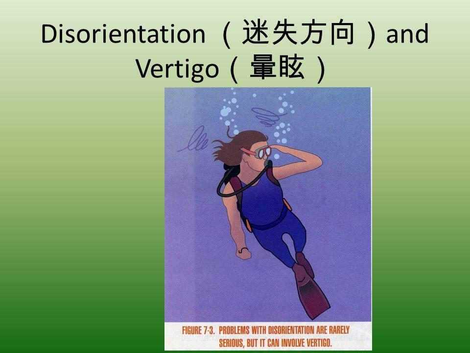 Disorientation (迷失方向)and Vertigo(暈眩)