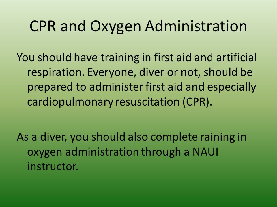 CPR and Oxygen Administration