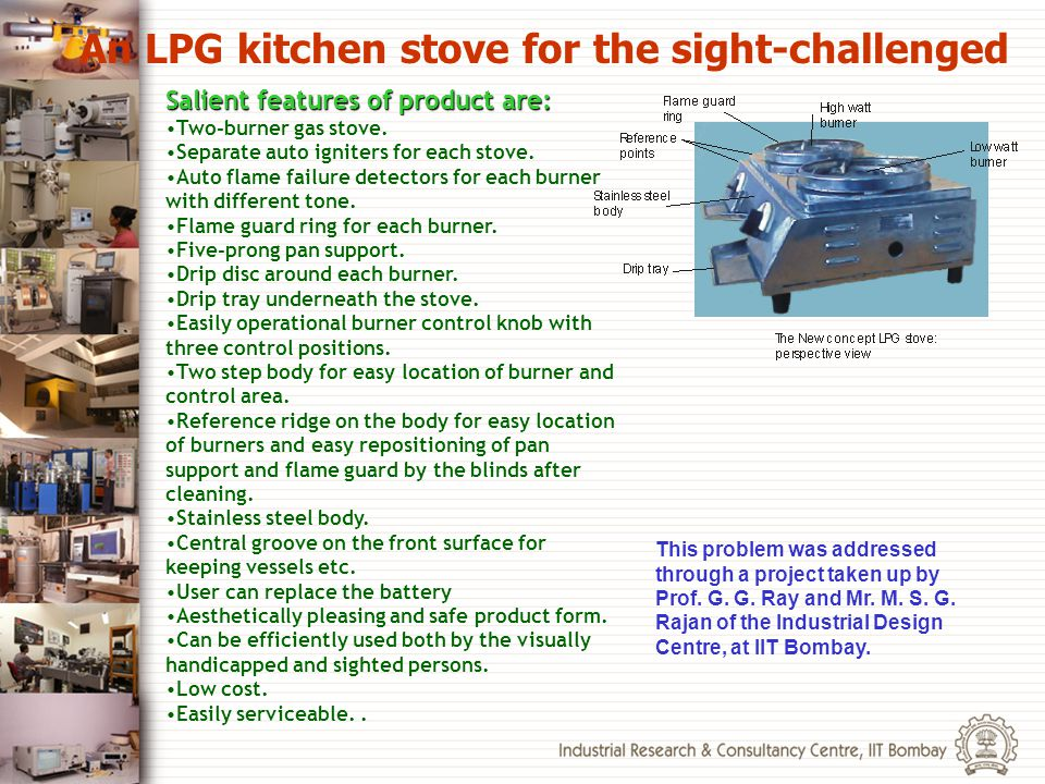 An LPG kitchen stove for the sight-challenged