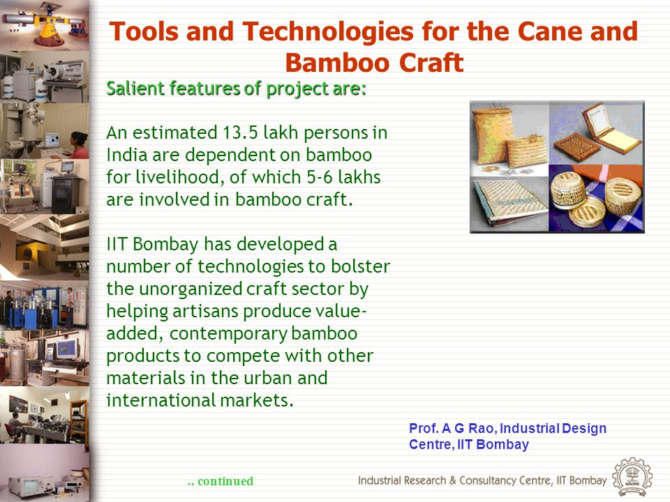 Tools and Technologies for the Cane and Bamboo Craft