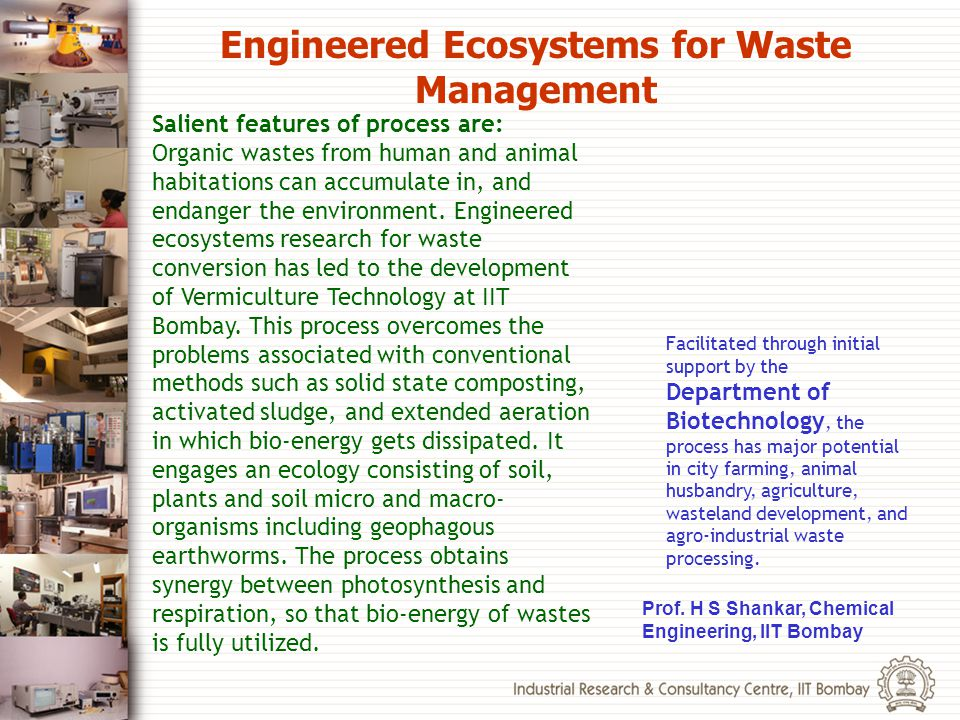 Engineered Ecosystems for Waste Management