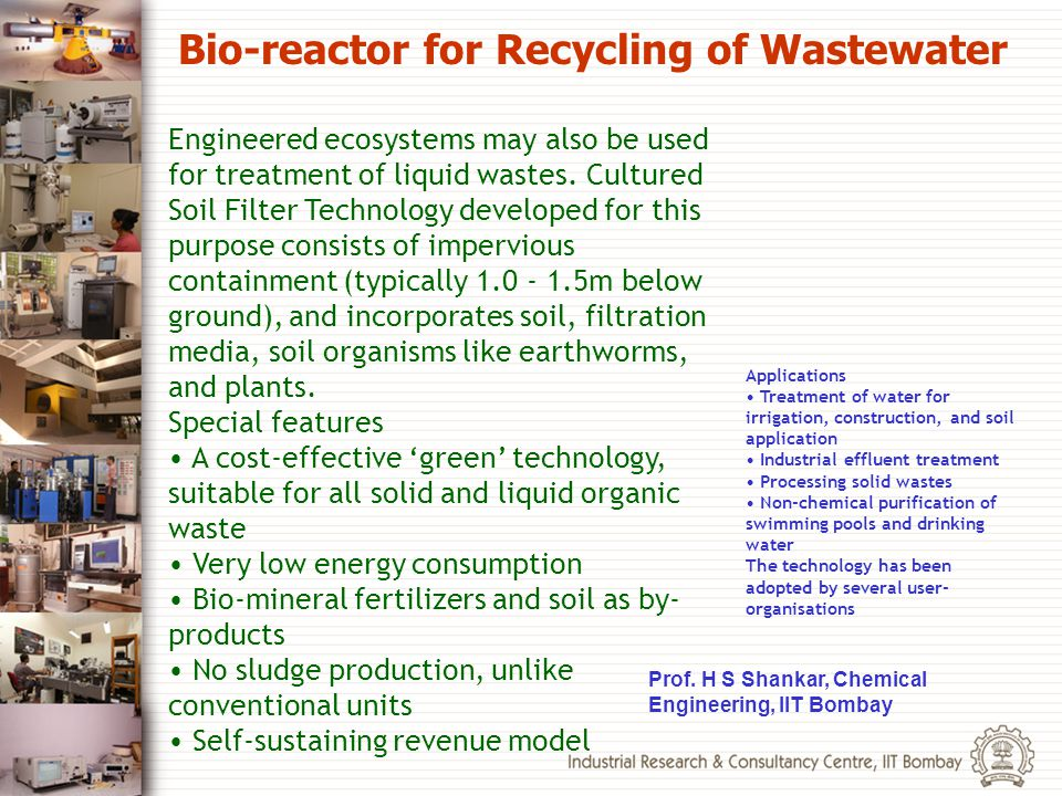 Bio-reactor for Recycling of Wastewater