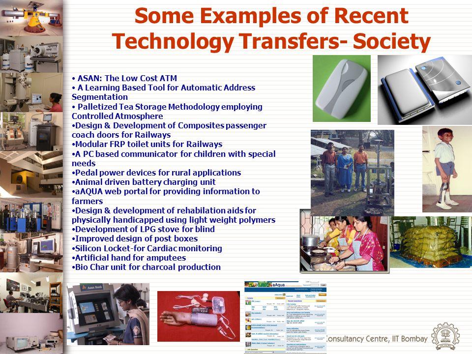 Some Examples of Recent Technology Transfers- Society