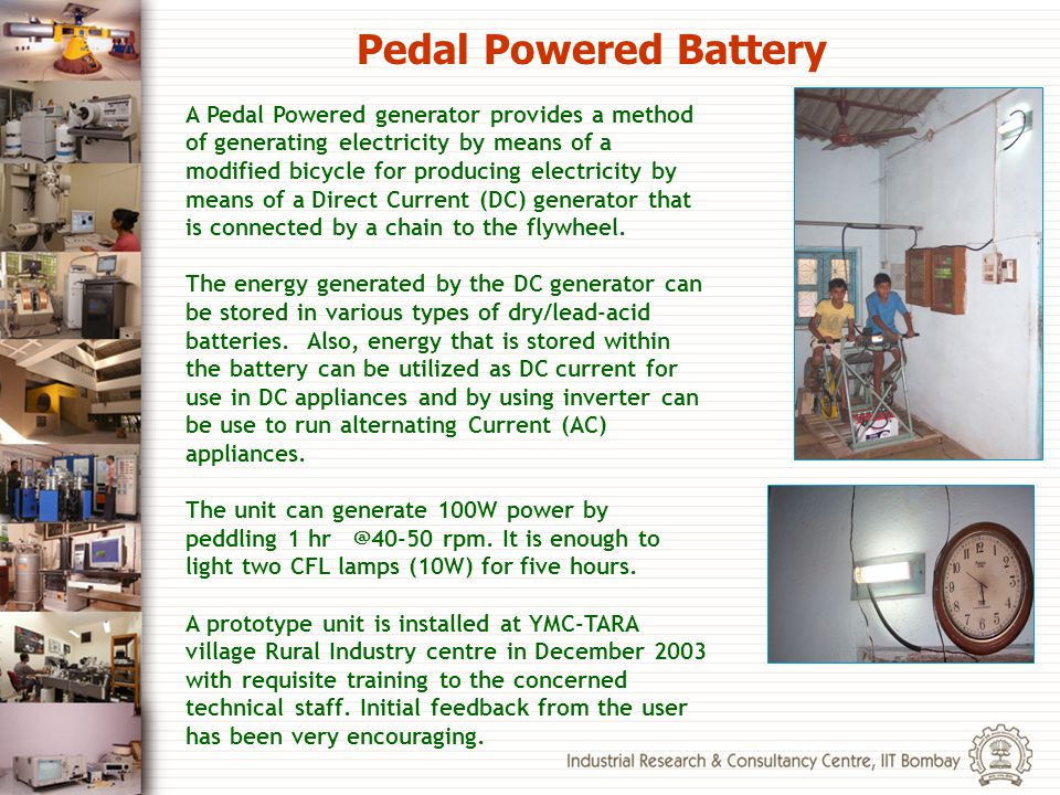 Pedal Powered Battery