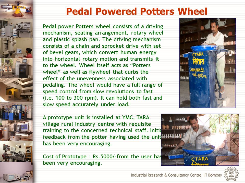 Pedal Powered Potters Wheel