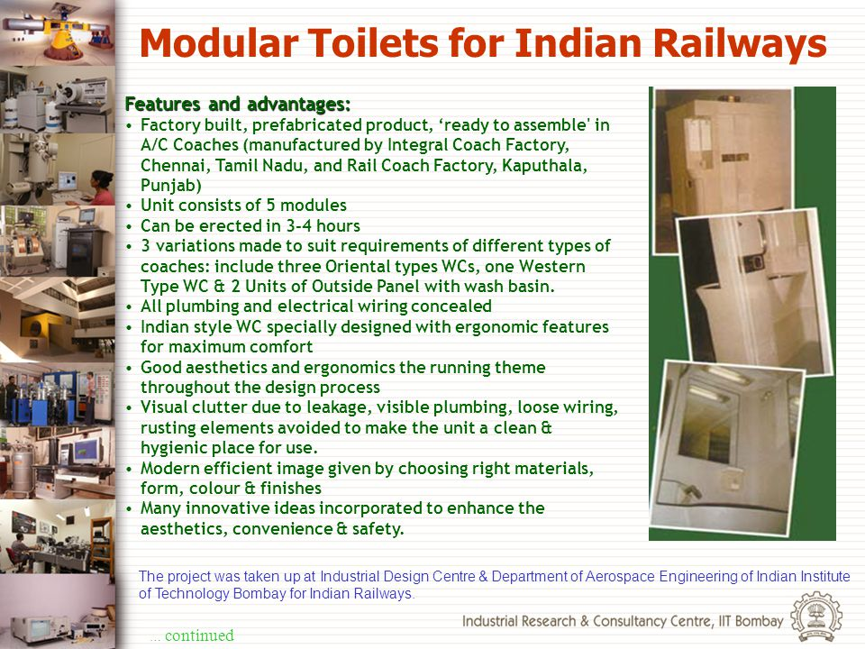 Modular Toilets for Indian Railways