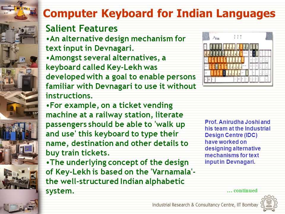 Computer Keyboard for Indian Languages
