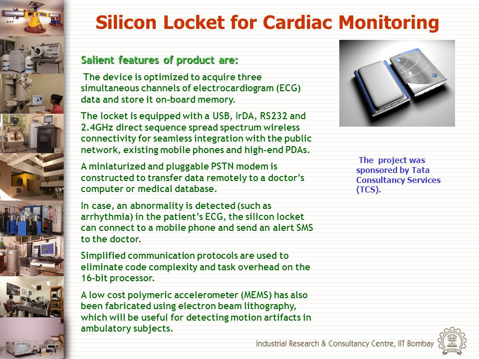 Silicon Locket for Cardiac Monitoring
