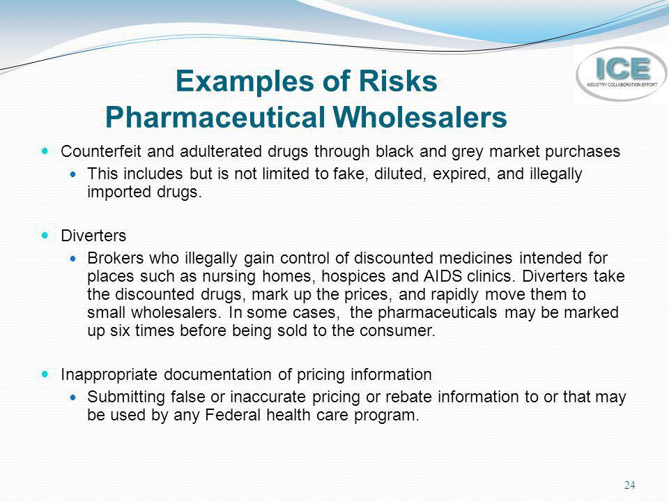 Examples of Risks Pharmaceutical Wholesalers